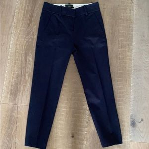 Navy blue ankle length dress pant